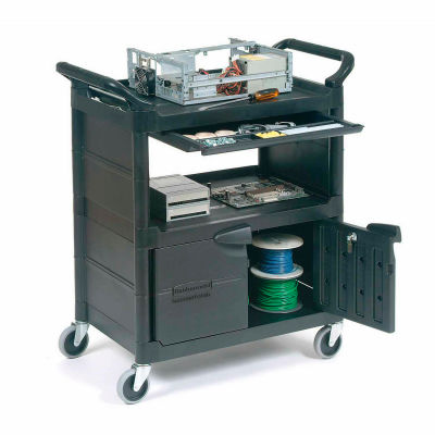 Rubbermaid Plastic Instrument Cart 200 Lb. Capacity