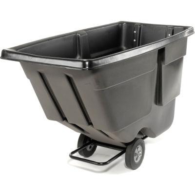Rubbermaid® Light Duty Plastic Tilt Truck, 1 Cu. Yd. Cap, 600 Lbs. Cap, Black