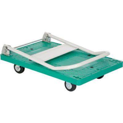 Folding Plastic Deck Platform Truck FPT-2133 33 x 21 500 Lb. Capacity