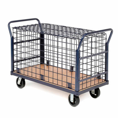Global Industrial™ Euro Wire Security Truck 60 x 30 2400 Lb. Capacity