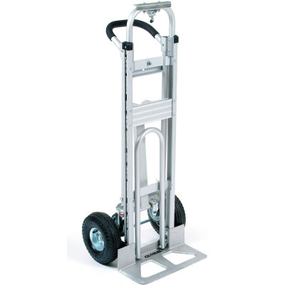 Global Industrial™ Aluminum 3-in-1 Convertible Hand Truck With Pneumatic Wheels