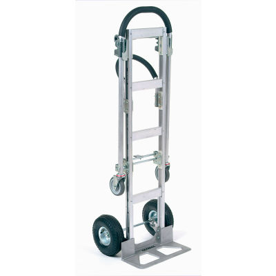 Global Industrial™ Best Value Senior Aluminum 2-in-1 Convertible Hand Truck - Pneumatic Wheels