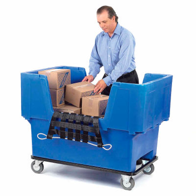 Dandux Blue Easy Access 18 Bushel Plastic Mail & Box Truck 51166718U-5S with Cargo Net