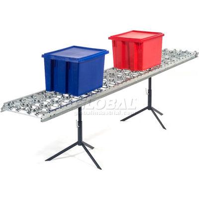 Omni Metalcraft Steel Skate Wheel Conveyor Straight Section WSHS3-24-24-10-LL