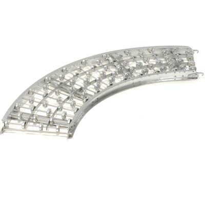 Omni Metalcraft Steel Skate Wheel Conveyor Curved Section WSHC3-18-16-90