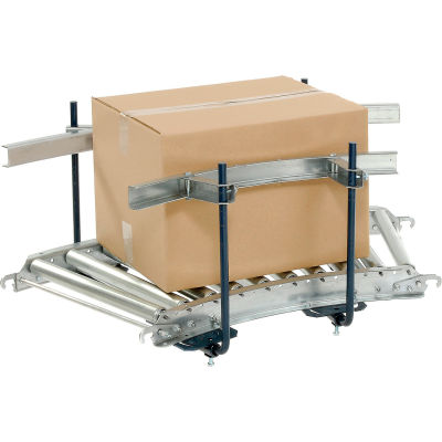 Steel Guard Rail Kit (Pair) GCBS-5-1.0 x 2.5-A for Omni Metalcraft 5' Straight Skate Wheel Conveyor