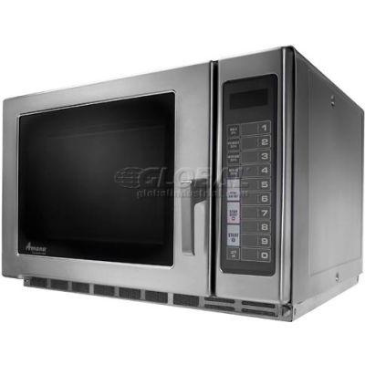 Amana® RFS12TS, Heavy Duty Commercial Microwave, 1.2 Cu. Ft., 1200 Watt, Keypad,