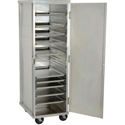 """Nexel®  ETC2127 Enclosed Mobile Transport Cabinet, 68""""H, 40 Pan Capacity, Aluminum"""