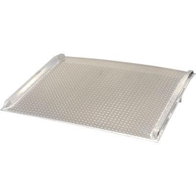 Aluminum Dock Board with Aluminum Curbs BTA-14007272 72x72 14,000 Lb. Cap