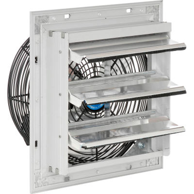 """Continental Dynamics® 10"""" Direct Drive Single Speed Exhaust Fan With Shutter, 1/30 HP"""