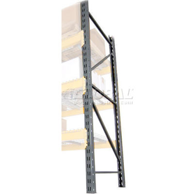 "Husky Rack & Wire Lynx/Double Slotted Pallet Rack Upright - 42""D x 72""H"