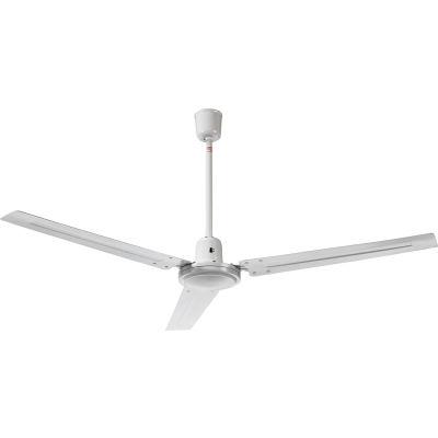 "Global Industrial™ 56"" Industrial Ceiling Fan - White - 4 Speed - 6500 CFM - 120V"