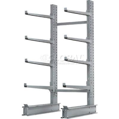 """Cantilever Rack simple face, Starter unité Extra Heavy Duty, W 48"""" x 37"""" D x 8' H, 21500 Lbs capacité"""