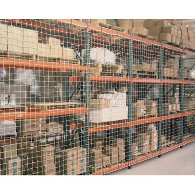 """Pallet Rack Netting One Bay, 123""""W x 96""""H, 4"""" Sq. Mesh, 2500 lb Rating"""