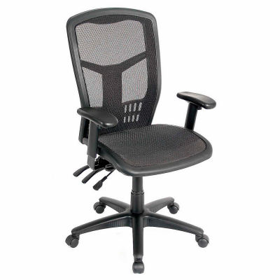 Interion® Office Chair With High Back & Adjustable Arms, Mesh, Black