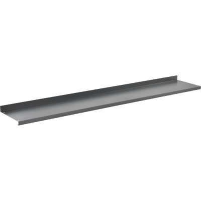 """Global Industrial™ Cantilever Upper Steel Shelf For Bench Uprights - 72""""W x 12""""D - Gray"""