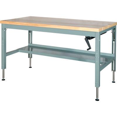 48 x 30 Hydraulic Ergonomic Workbench-Maple Top