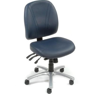 Interion® Antibacterial Office Chair - Vinyl - Blue