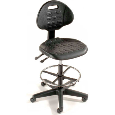 Interion® 5-Way Adjustable Ergonomic Stool, Black