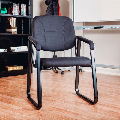 Chaise d'invité ® Interion - Tissu - Noir