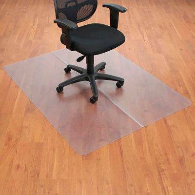 """Interion® Office Chair Mat for Hard Floor - 36""""W x 48""""L - Straight Edge"""