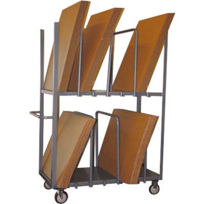 "Cardboard Carton Truck Double Level 48 x 24 5"" Polyurethane Casters"