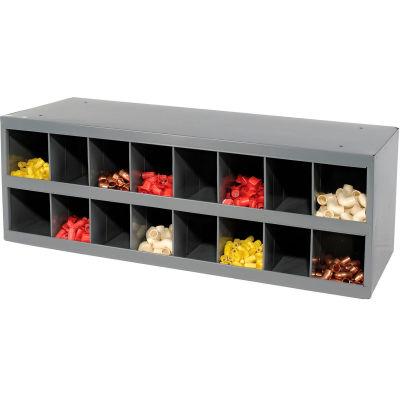 Durham Steel Storage Parts Bin Cabinet 353-95 Open Front - 16 Compartments