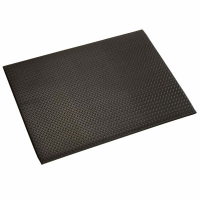 "Apache Mills Diamond Deluxe Soft Foot™ Mat 1/2"" Thick 4' x 60' Black"