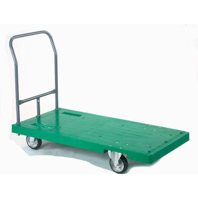 Global Industrial™ Best Value Plastic Deck Flatbed Platform Truck 52 x 25 2000 Lb. Capacity