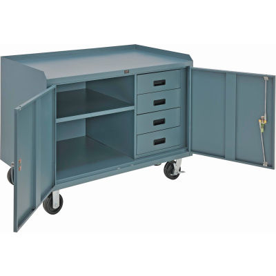 Global Industrial™ 48 x 26 4 Drawer Mobile Cabinet Bench