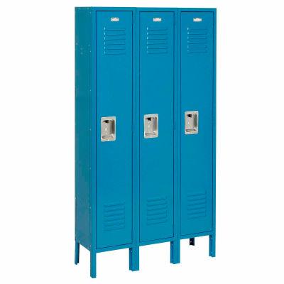 """Global Industrial™ Infinity® Single Tier 3 Door Locker, 12""""Wx12""""Dx72""""H, Blue, Unassembled"""