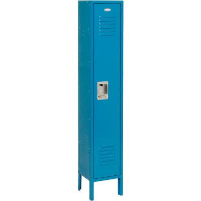 """Global Industrial™ Infinity® Single Tier 1 Door Locker, 12""""Wx12""""Dx60""""H, Blue, Unassembled"""