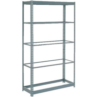 """Global Industrial™ Heavy Duty Shelving 36""""W x 12""""D x 84""""H With 5 Shelves - No Deck - Gray"""