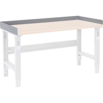 "Global Industrial™ Back and End Stops For Workbench Top - 72""W x 36""D x 3""H - Gray"