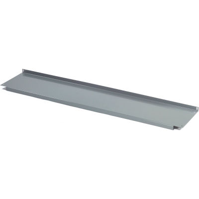 """Global Industrial™ Lower Shelf Steel With 2"""" Back Stop for Workbench - 72""""W x 14""""D - Gray"""