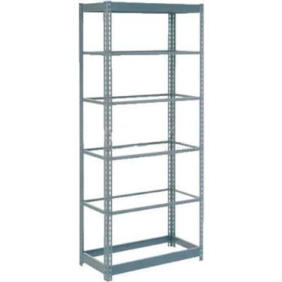 """Global Industrial™ Heavy Duty Shelving 36""""W x 18""""D x 60""""H With 6 Shelves - No Deck - Gray"""
