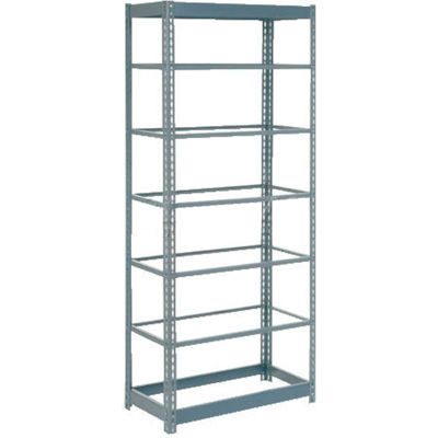 """Global Industrial™ Heavy Duty Shelving 36""""W x 24""""D x 96""""H With 7 Shelves - No Deck - Gray"""