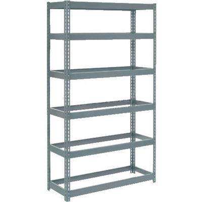 """Global Industrial™ Extra Heavy Duty Shelving 48""""W x 12""""D x 60""""H With 6 Shelves, No Deck, Gray"""