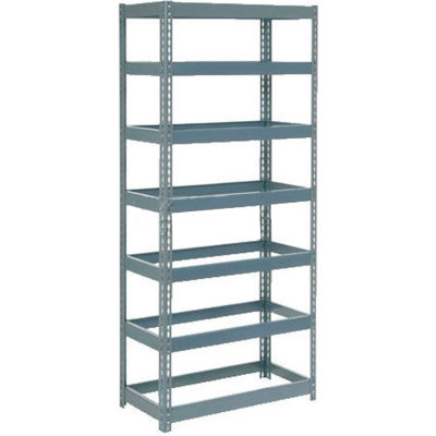 """Global Industrial™ Extra Heavy Duty Shelving 36""""W x 12""""D x 84""""H With 7 Shelves, No Deck, Gray"""