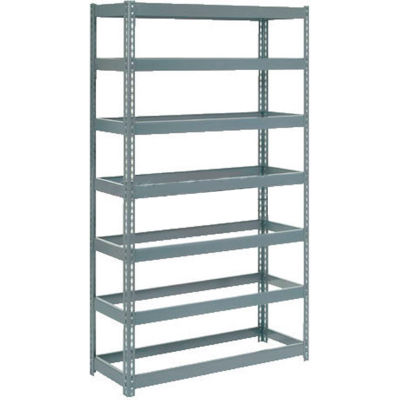 """Global Industrial™ Extra Heavy Duty Shelving 48""""W x 18""""D x 84""""H With 7 Shelves, No Deck, Gray"""