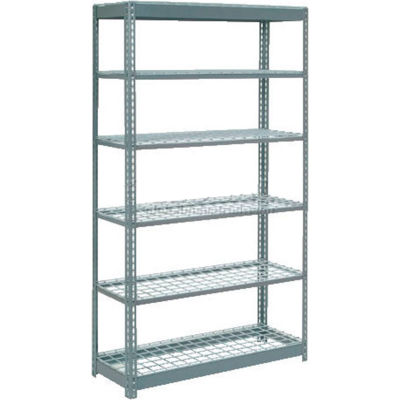 """Global Industrial™ Heavy Duty Shelving 48""""W x 24""""D x 84""""H With 6 Shelves - Wire Deck - Gray"""