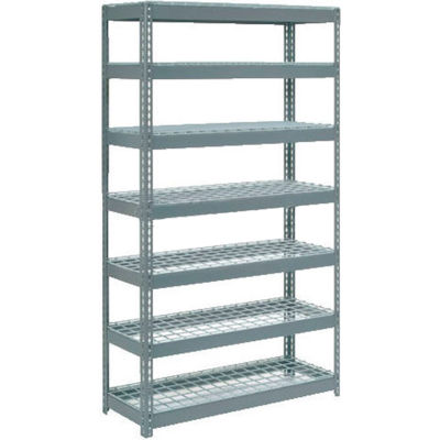 """Global Industrial™ Extra Heavy Duty Shelving 48""""W x 18""""D x 96""""H With 7 Shelves, Wire Deck, Gry"""