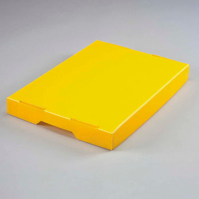 Global Industrial™ Corrugated Plastic Postal Mail Tote Lid Yellow - Pkg Qty 10