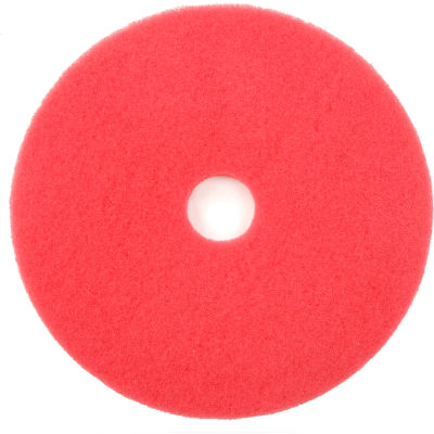"Global Industrial™ 20"" Red Buffing Pad - 5 Per Case"