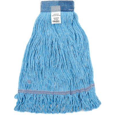 Global Industrial™ Large Blue Looped Mop Head, Wide Band
