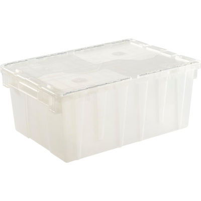 ORBIS Flipak® Attached Lid Container FP143 -21-4/5 x 15-1/5 x 9-4/5, Clear