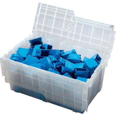 ORBIS Flipak® Attached Lid Container FP243 - 26-9/10 x 17-1/10 x 12-3/5, Clear
