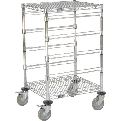 "Global Industrial™ 21""L x 24""W x 40""H H Chrome Wire Cart - 4 Level"