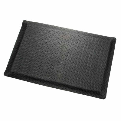 """Apache Mills Diamond Deluxe Soft Foot™ Mat 9/16"""" Thick 2' x Up to 75' Black"""