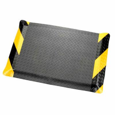 "Apache Mills Diamond Deluxe Soft Foot™ Mat 9/16"" Thick 4' x Up to 75' Black/Chevron Border"
